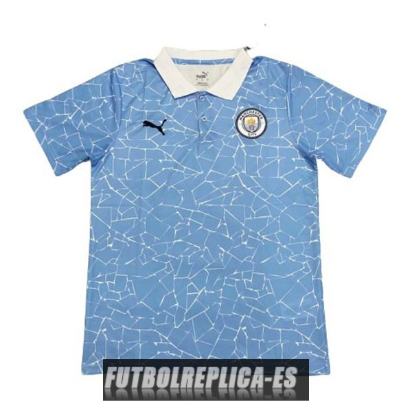 azul manchester city polo 2020-2021