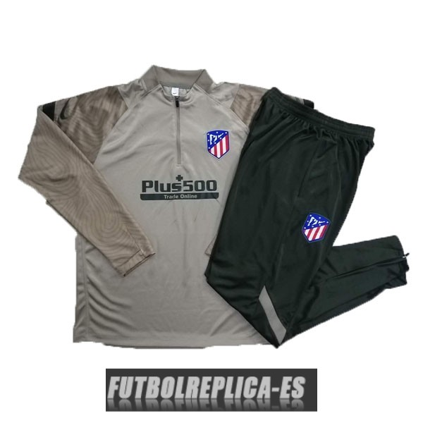 chandal atletico madrid cremallera marron 2020-2021