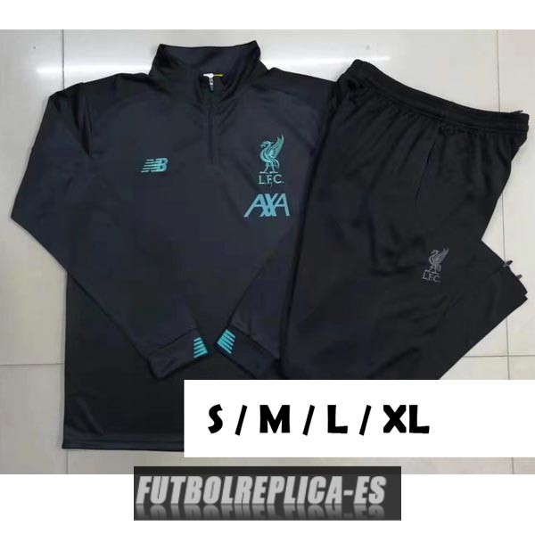 chandal liverpool cremallera gris oscuro 2019-2020