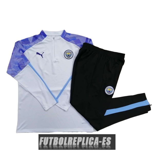 chandal manchester city cremallera blanco purpura 2020-2021