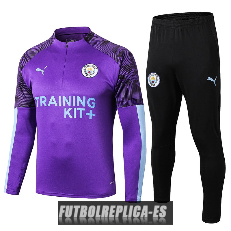 chandal manchester city cremallera purpura 2019-2020