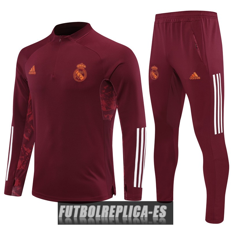 chandal real madrid cremallera rojo oscuro 2020-2021