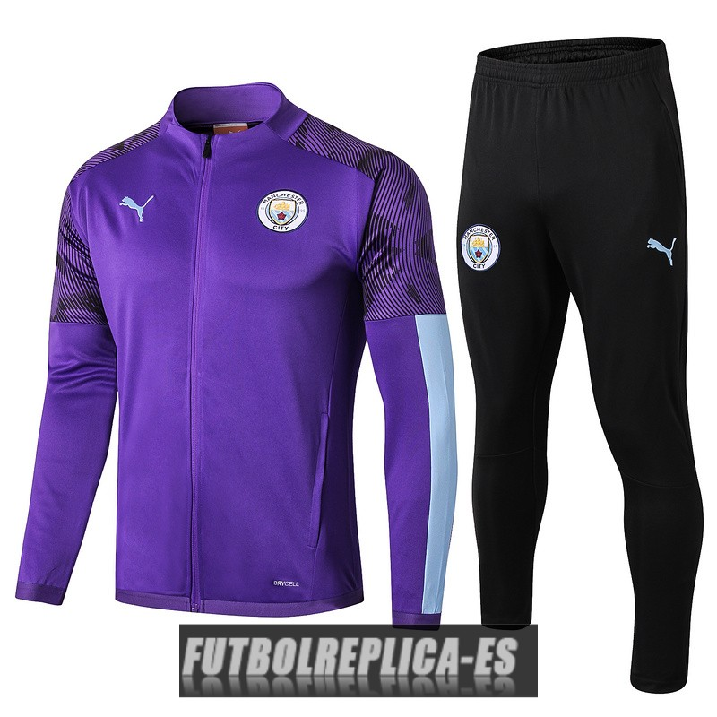 chaqueta manchester city purpura 2019-2020