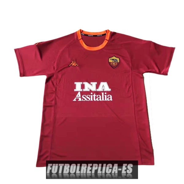 primera as roma camiseta retro 2000-2001