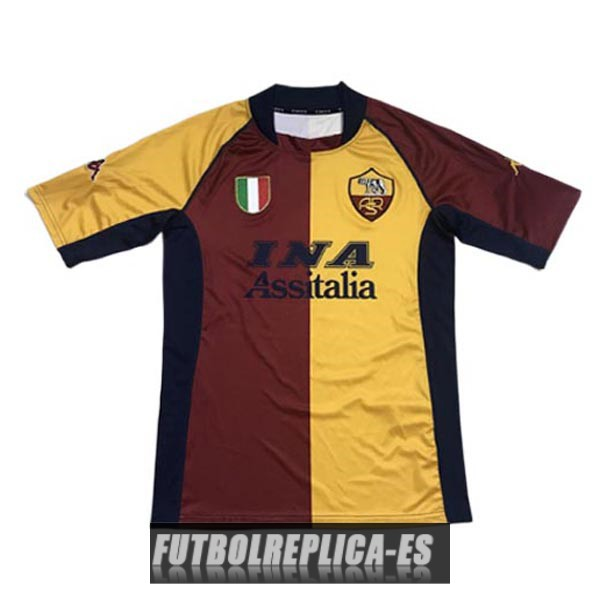 primera as roma camiseta retro 2001-2002