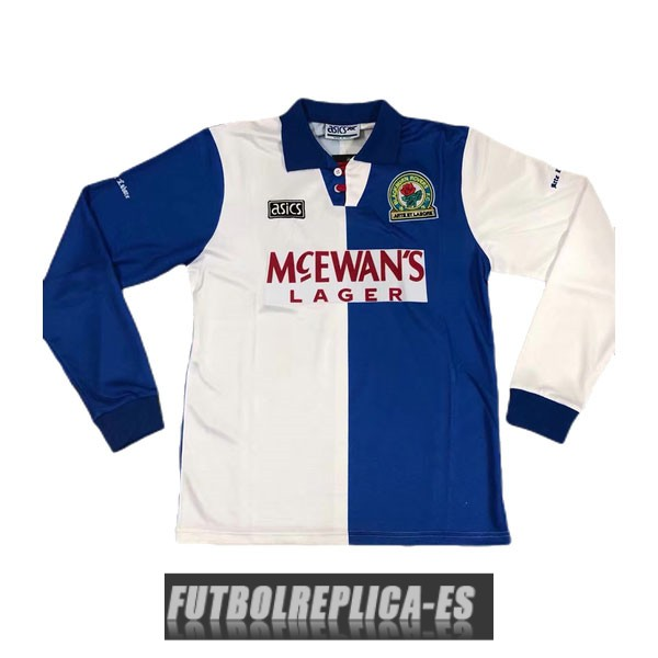primera blackburn rovers camiseta manga larga retro 1994-1995
