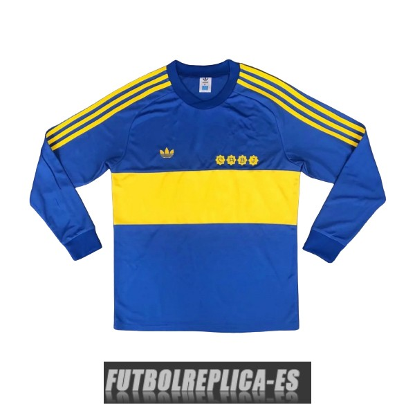 primera boca juniors camiseta manga larga retro 1981-1982