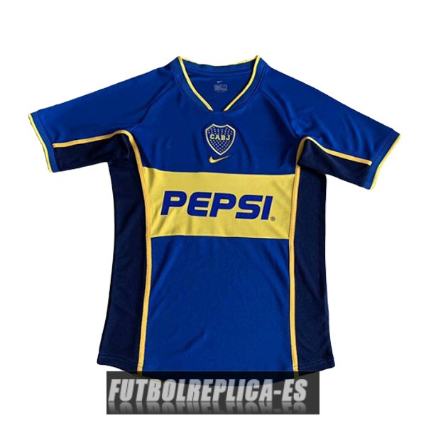 primera boca juniors camiseta retro 2002