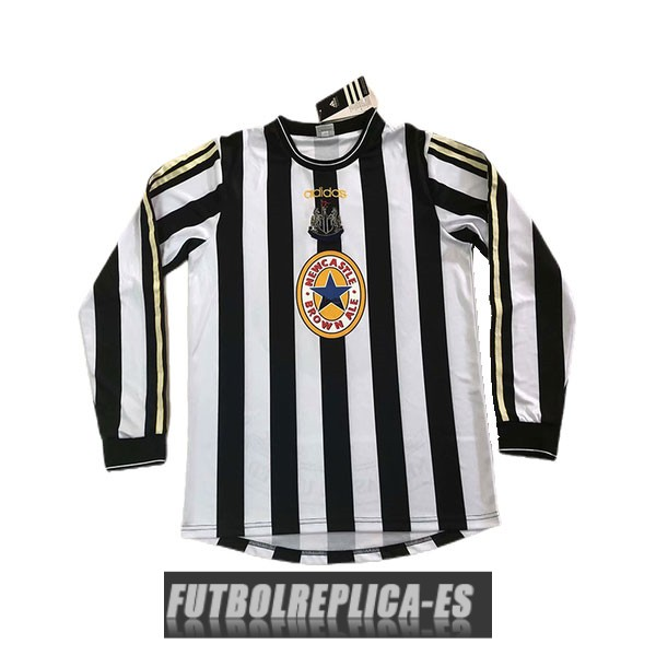 primera newcastle united camiseta manga larga retro 1997-1999