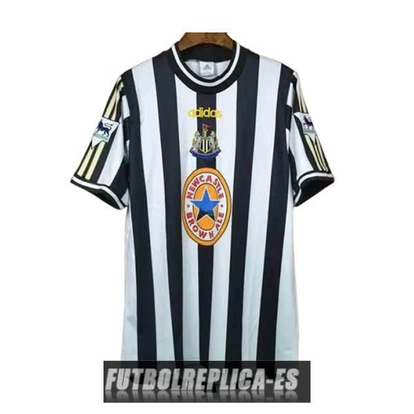 primera newcastle united camiseta retro 1997-1999