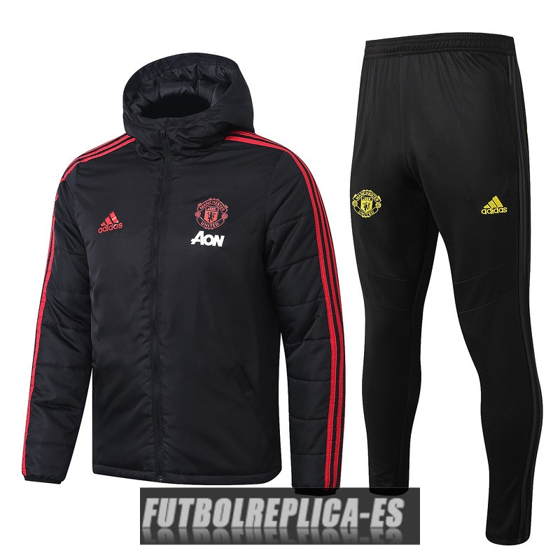 rompevientos manchester united negro rojo 2019-2020