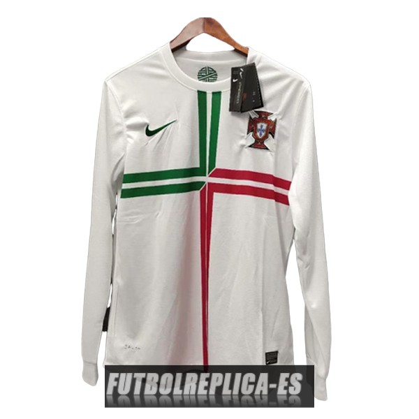 segunda portugal camiseta manga larga retro 2012-2013