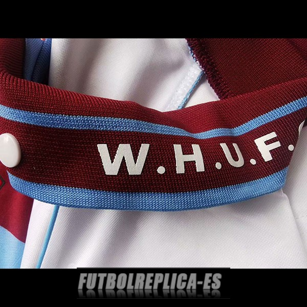 tercera west ham united camiseta retro 1991-1992